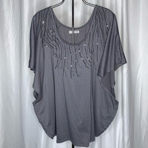 Maurices Sequin Front Blouse